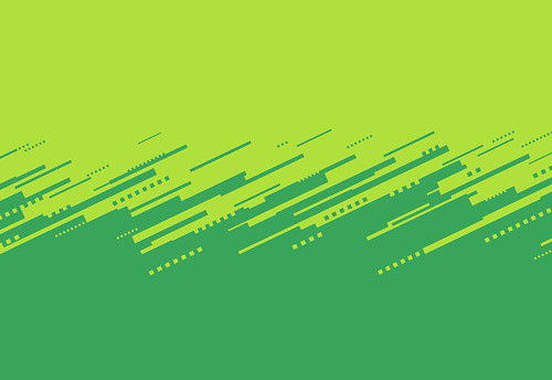Green Abstract Border