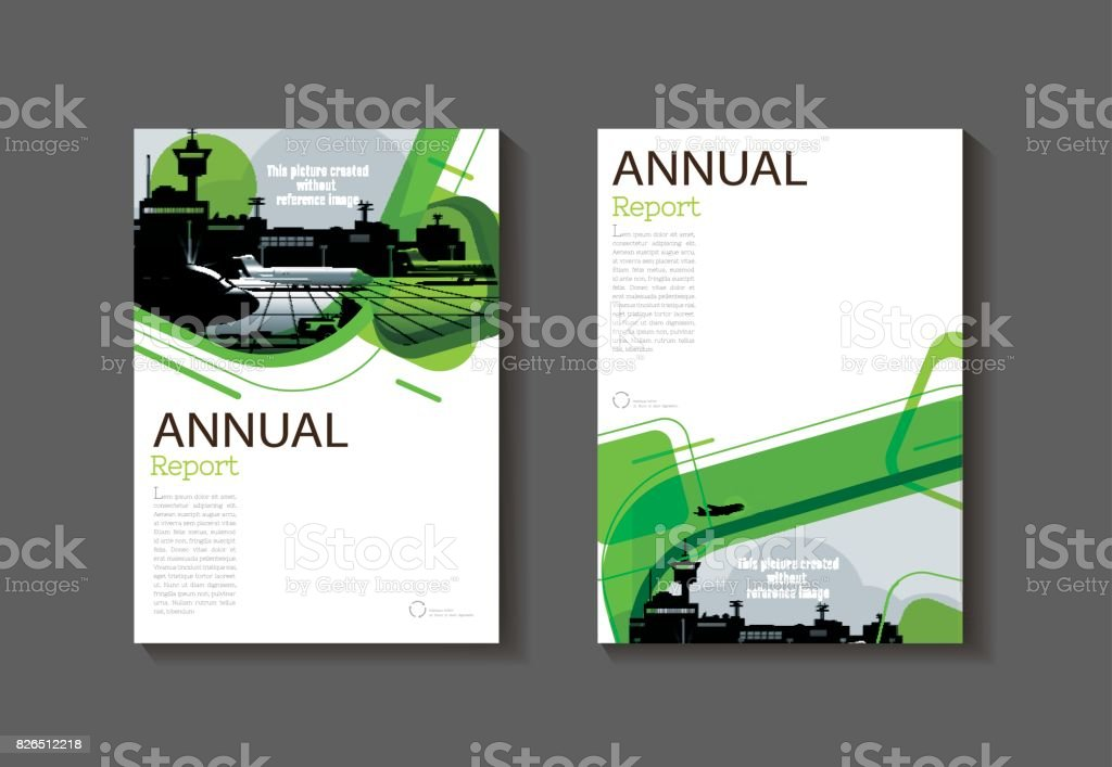 green abstract cover modern cover book brochure template design