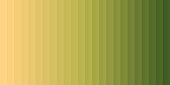 Modern and trendy abstract background with a gradient decomposed into several vertical color lines. This illustration can be used for your design, with space for your text (colors used: Orange, Beige, Yellow, Green). Vector Illustration (EPS10, well layered and grouped), wide format (2:1). Easy to edit, manipulate, resize or colorize.