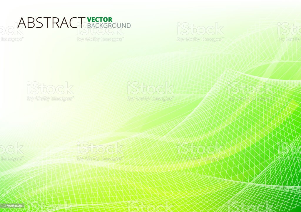 Green Abstract Lines vector art illustration