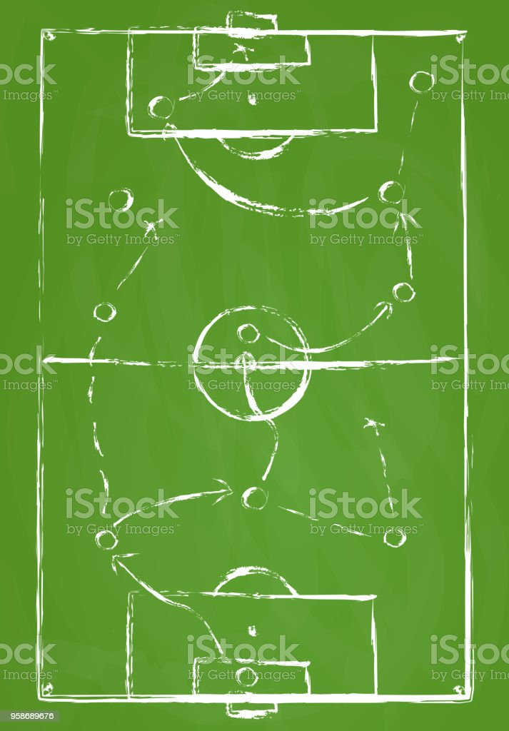terrain de soccer abstrait vert - Illustration vectorielle