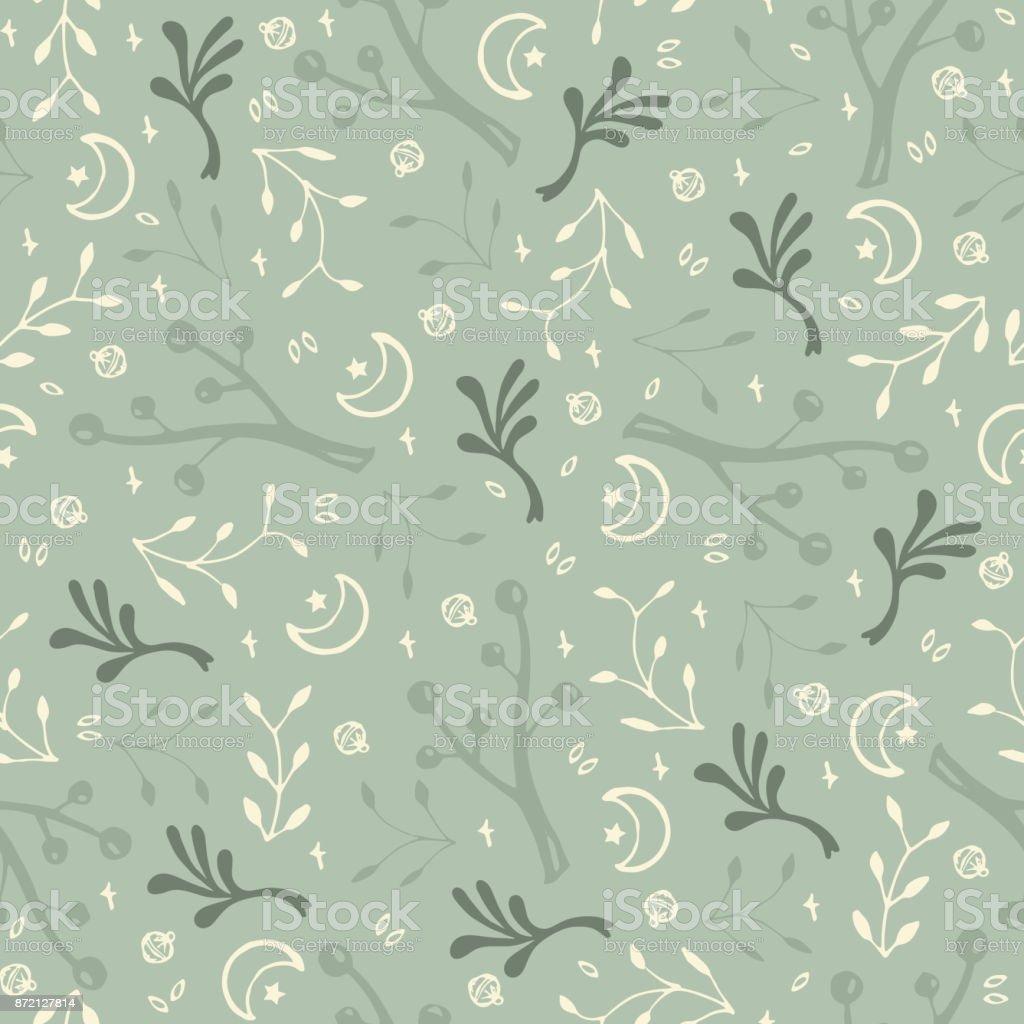 Green abstract texture vector art illustration