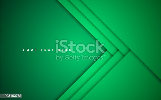 Green Abstract Vector Background. Horizontal composition with copy space.