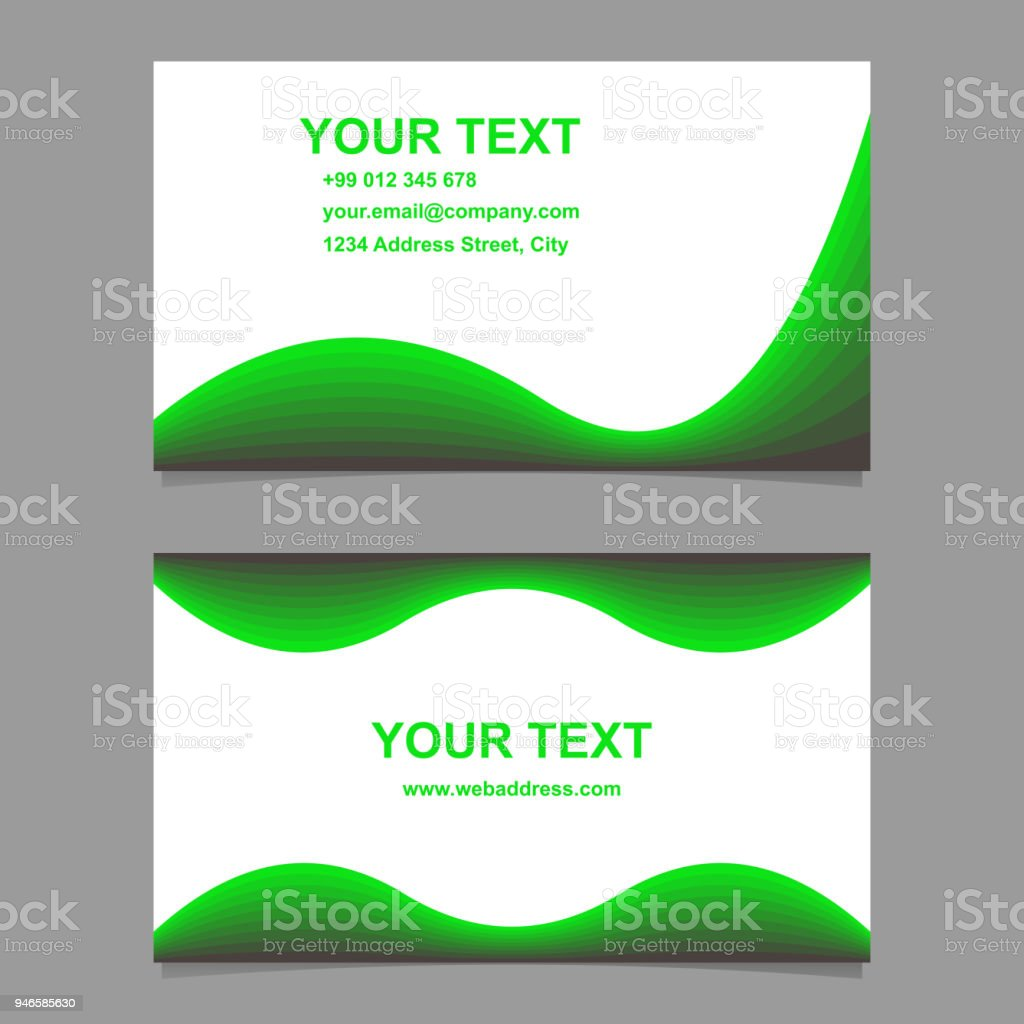 Green abstract wave design business card set stock vector art more green abstract wave design business card set royalty free green abstract wave design business card reheart Gallery