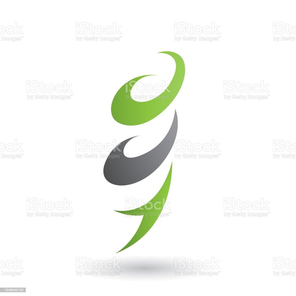 Green Abstract Wind And Twister Shape Vector Illustration Immagini Vettoriali Stock E Altre Immagini Di Ambiente Istock