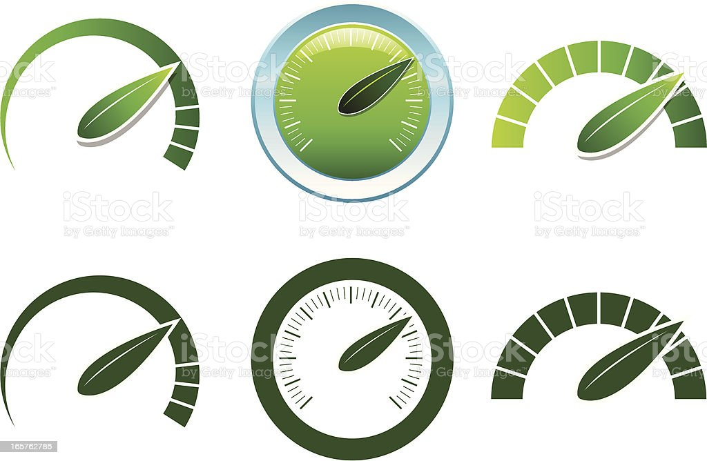 Green Acceleration royalty-free stock vector art