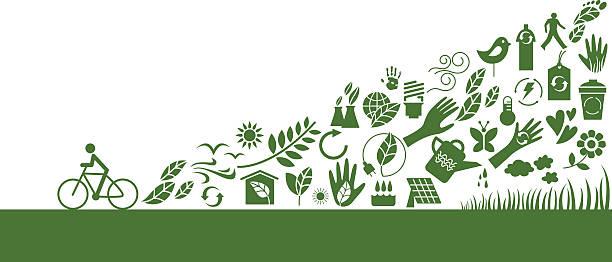 Green action vector art illustration