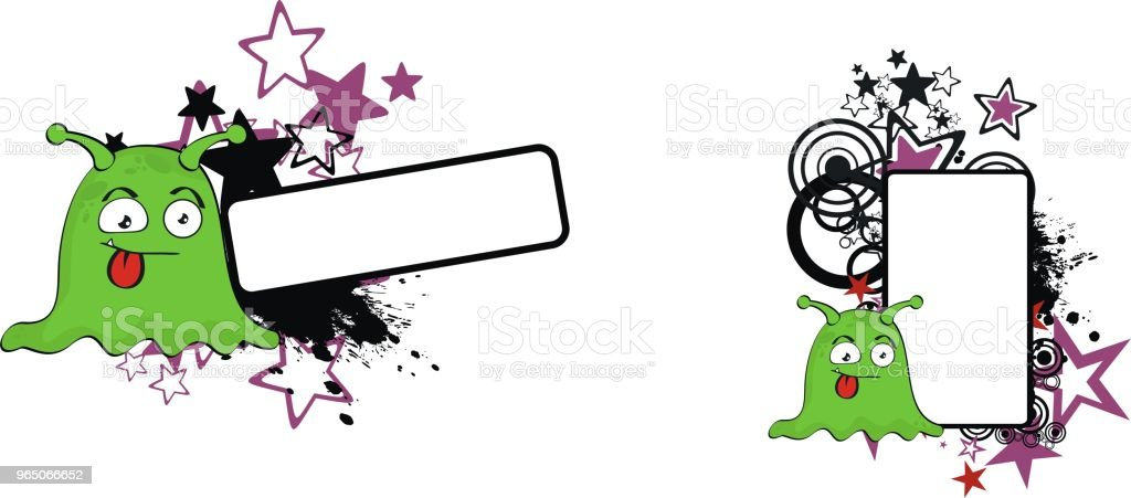 green alien cartoon expression copyspace set royalty-free green alien cartoon expression copyspace set stock vector art & more images of abstract