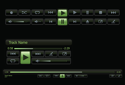 Green and black computer media player