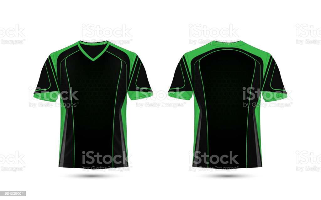Green And Black Layout Esport Tshirt Design Template Stock Vector