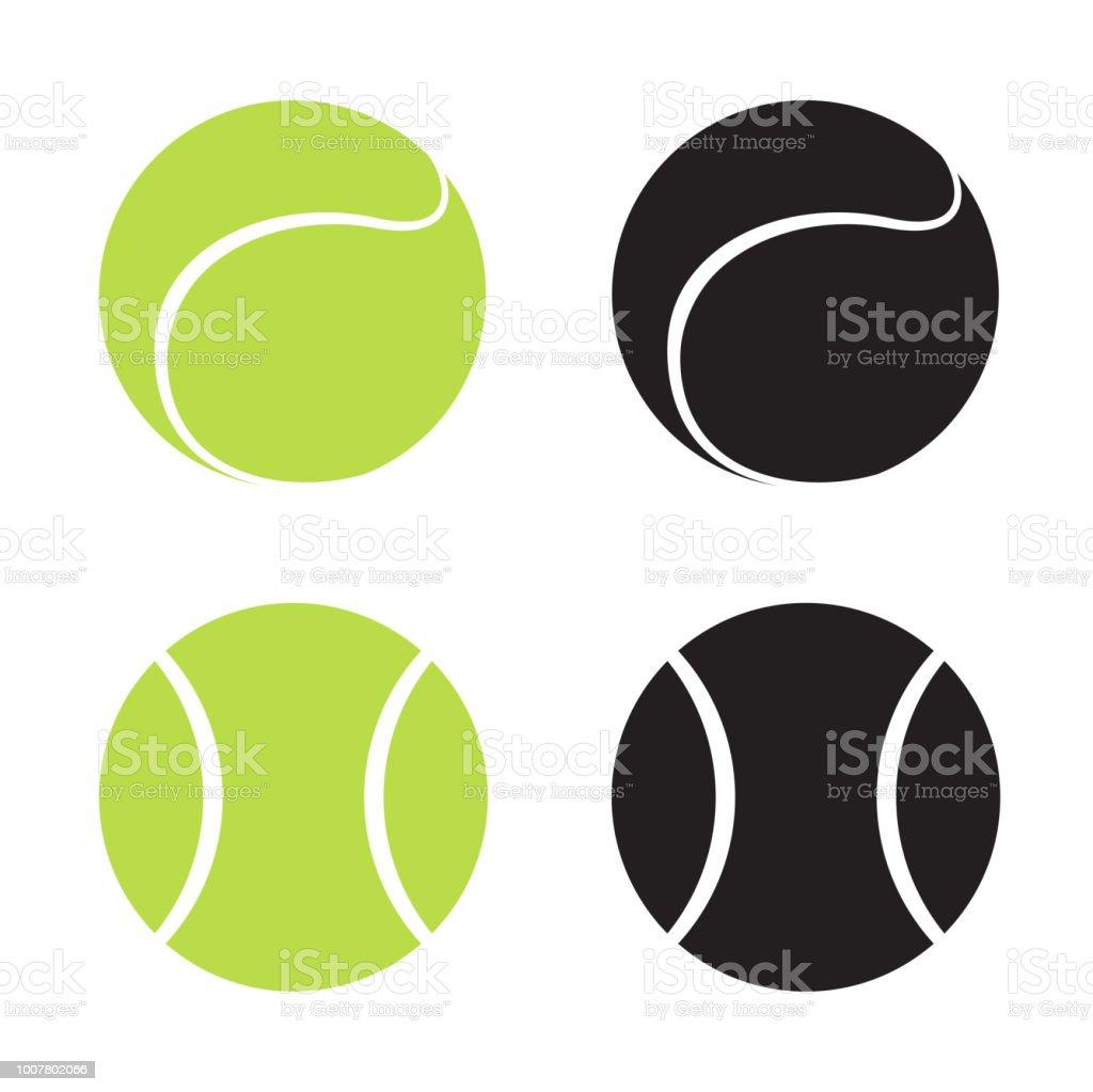 17e20e9413d44 Balles de tennis volume vert et noir sur fond blanc. Sport, fitness,  illustration