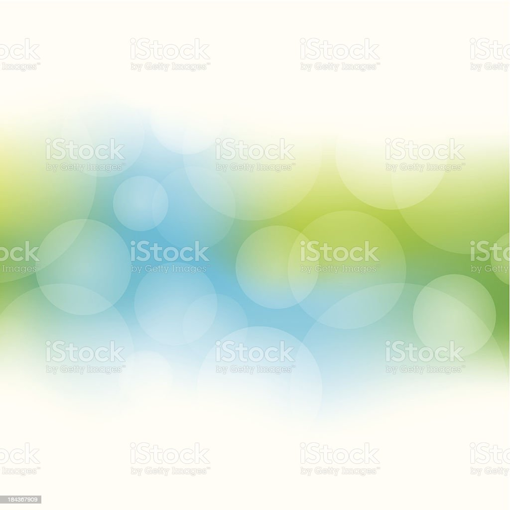 Green and blue abstract bokeh background vector art illustration
