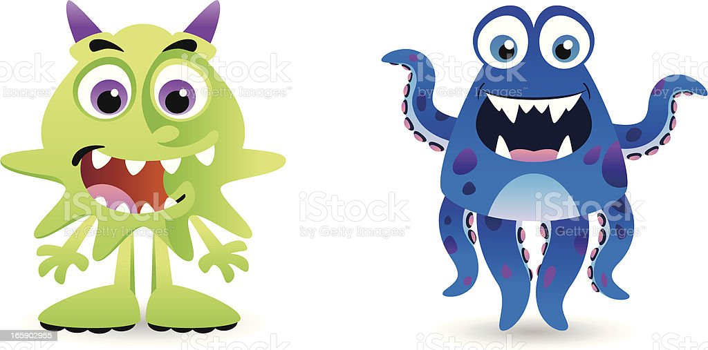 Green and Blue Creatures royalty-free green and blue creatures stock vector art & more images of animal