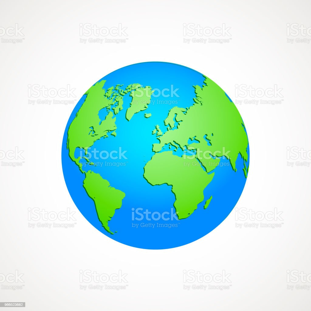 Green and blue map of the world globe vector illustration earth green and blue map of the world globe vector illustration earth graph colored world gumiabroncs Images