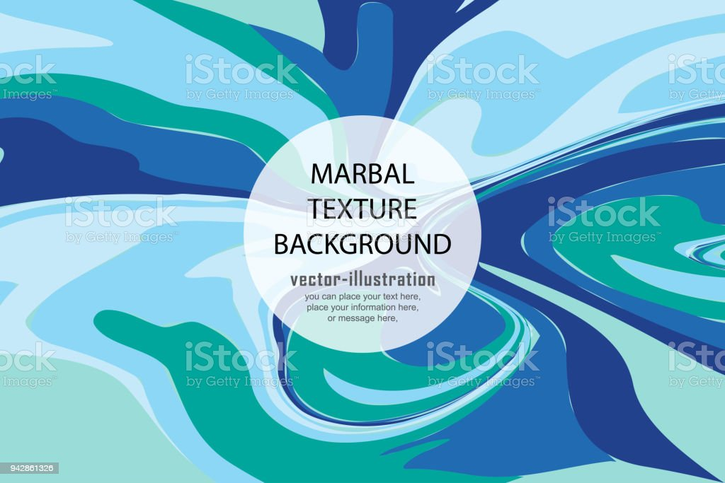Green And Blue Marble Design Color Mix Vector Illustration Stock