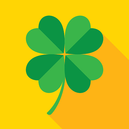 Green And Gold Four Leaf Clover