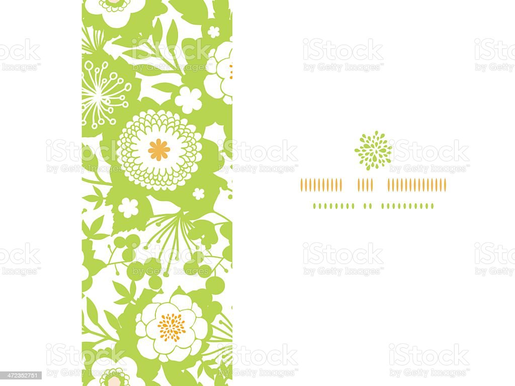 Green and golden garden silhouettes horizontal seamless pattern background royalty-free green and golden garden silhouettes horizontal seamless pattern background stock vector art & more images of abstract