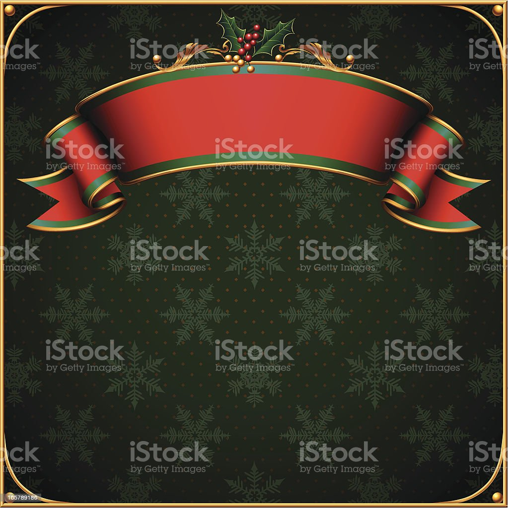 A green and red Christmas banner royalty-free stock vector art