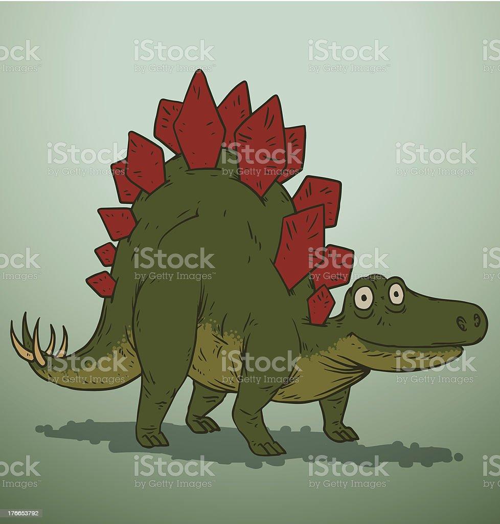 Dinosaurio verde y rojo Monada ilustración de dinosaurio verde y rojo monada y más banco de imágenes de animal libre de derechos