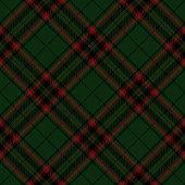 Green, red and black Scottish tartan plaid seamless diagonal textile pattern background.