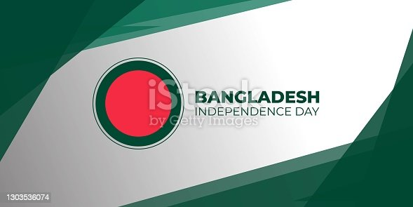 istock Green and white abstract background design with red circle. 1303536074
