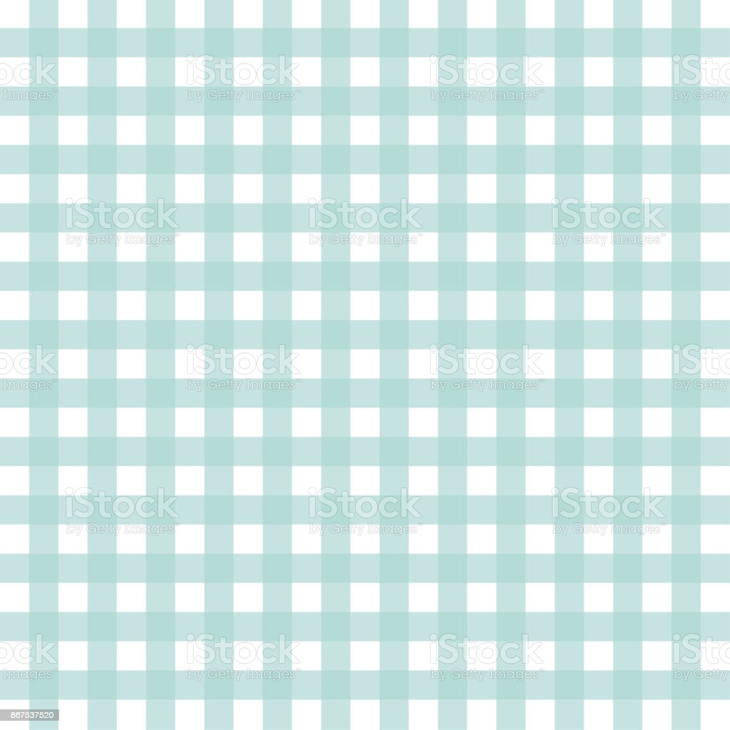 Green And White Checked Tablecloth Stock Illustration - Download Image Now  - iStock