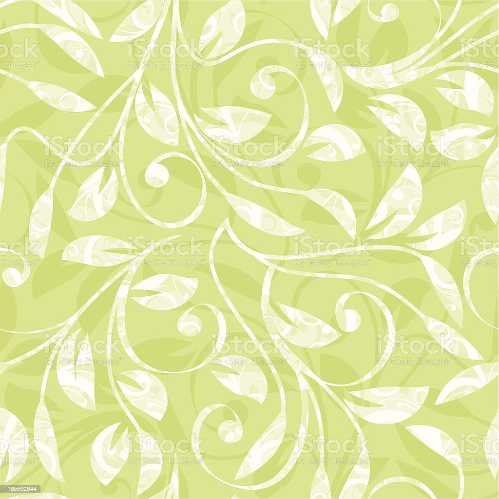 Green and white leaves as a background royalty-free stock vector art