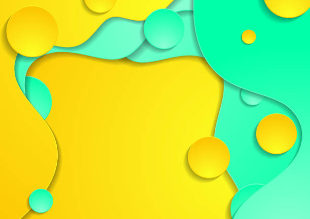 Green and yellow abstract wavy corporate vector background vector art illustration