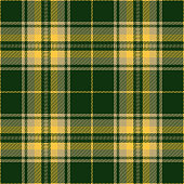 Green, yellow and beige traditional tartan plaid seamless pattern background.