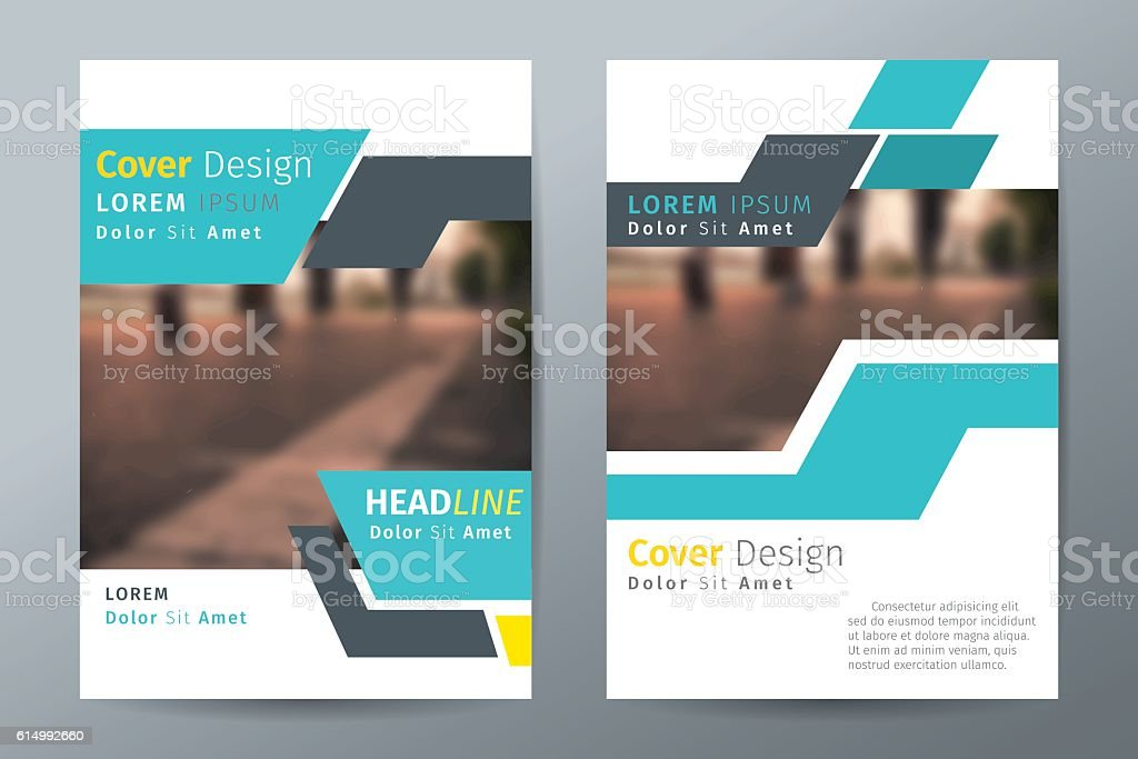 Green Annual Report Brochure Flyer Template Book Cover Layout Stock