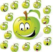 green aplle cartoon