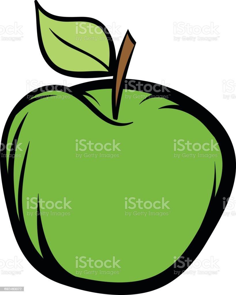 green apple icon cartoon stock vector art 692483072 istock
