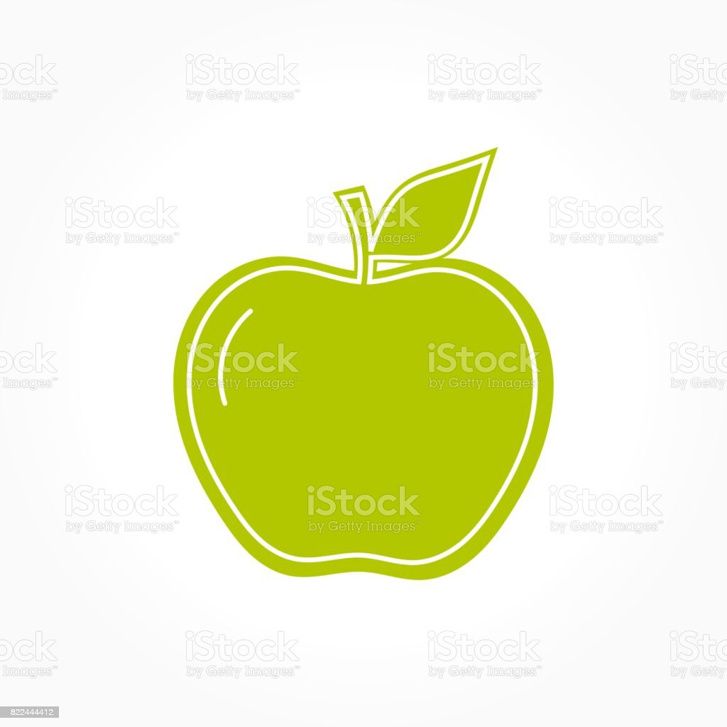 Green Apple Symbol Stock Vector Art More Images Of Apple Fruit