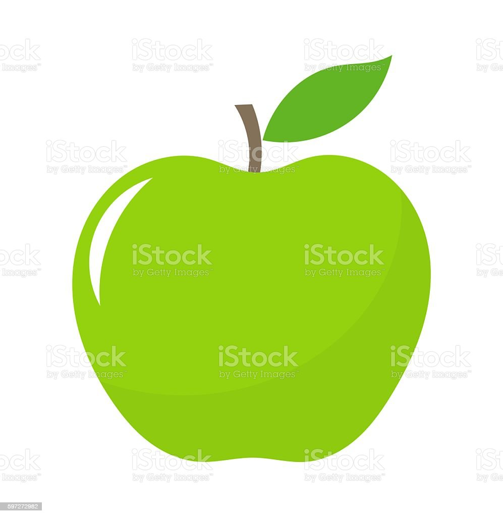 royalty free green apple clip art vector images