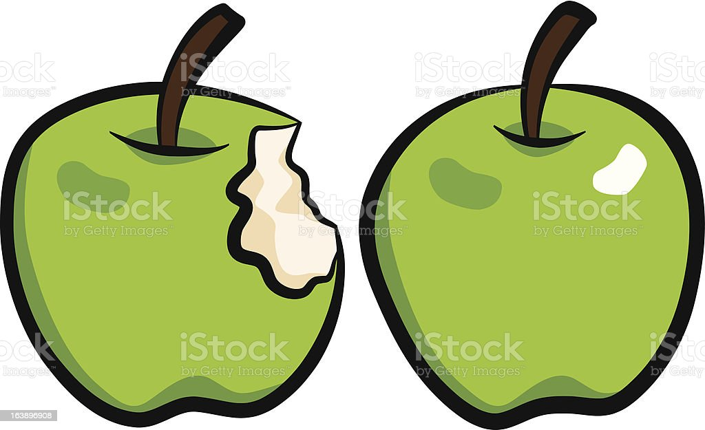 Green apples royalty-free stock vector art