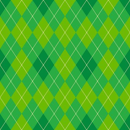 green argyle seamless vector pattern