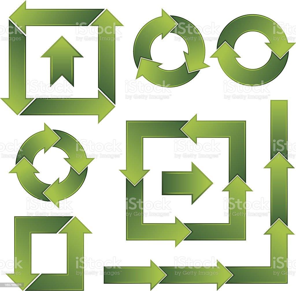 Green arrows royalty-free green arrows stock vector art & more images of arrow symbol