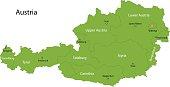 Green Austria map