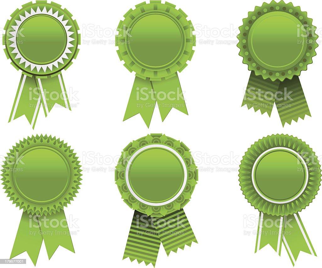 green award rosette royalty-free stock vector art