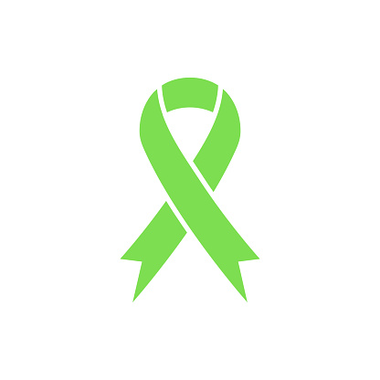 Green awareness ribbon icon.