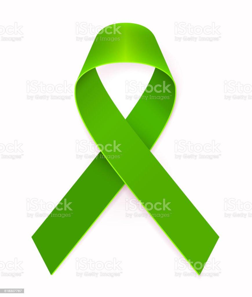 Green Awareness Ribbon Stock Vector Art More Images Of Aging