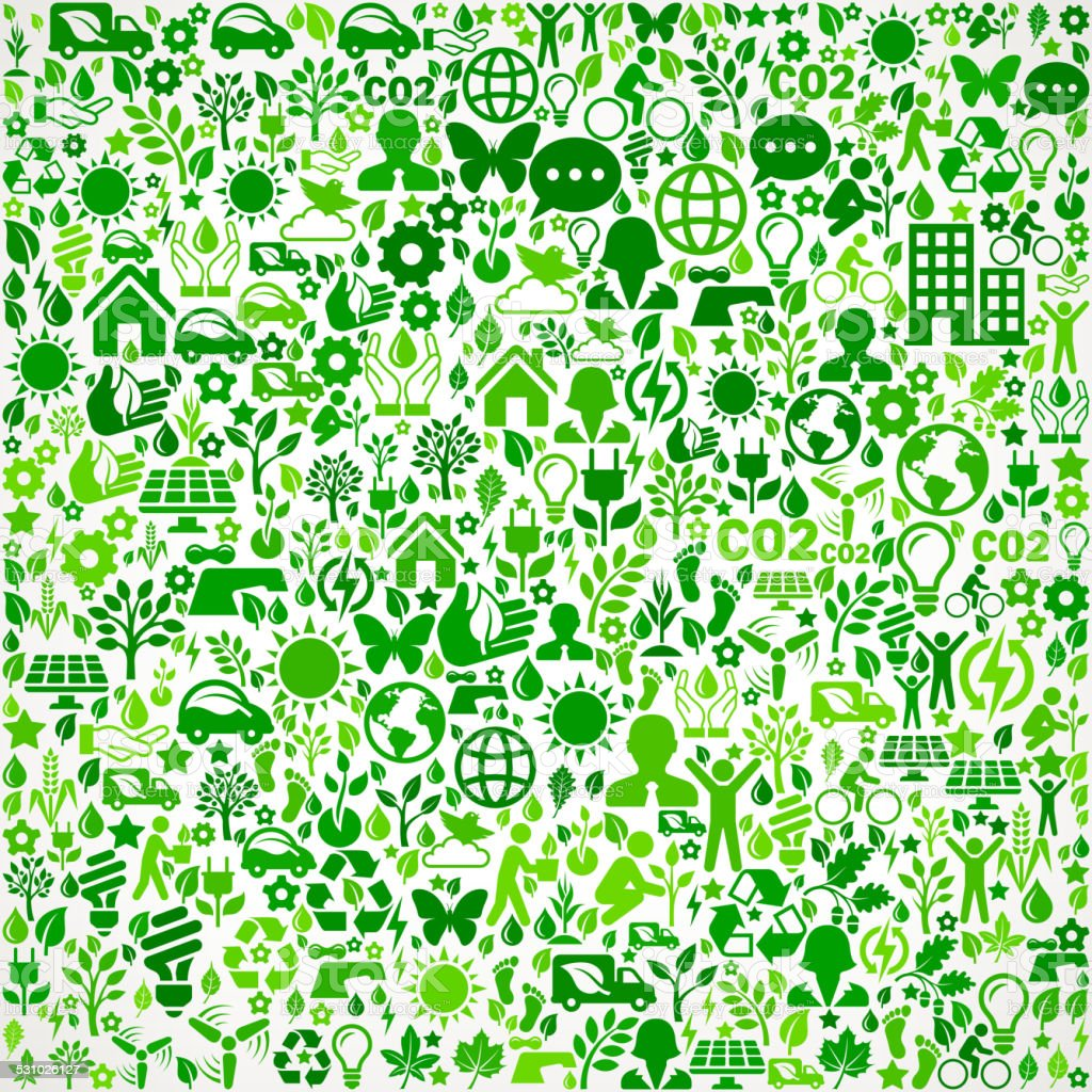 Green Background Environmental Conservation and Nature interface icon Pattern royalty-free green background environmental conservation and nature interface icon pattern stock vector art & more images of 2015
