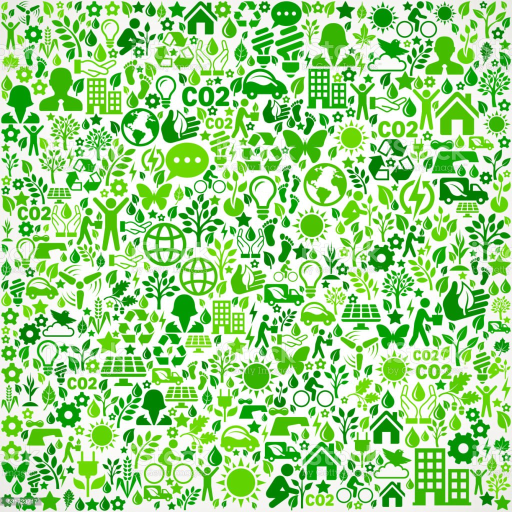 Green Background Environmental Conservation And Nature