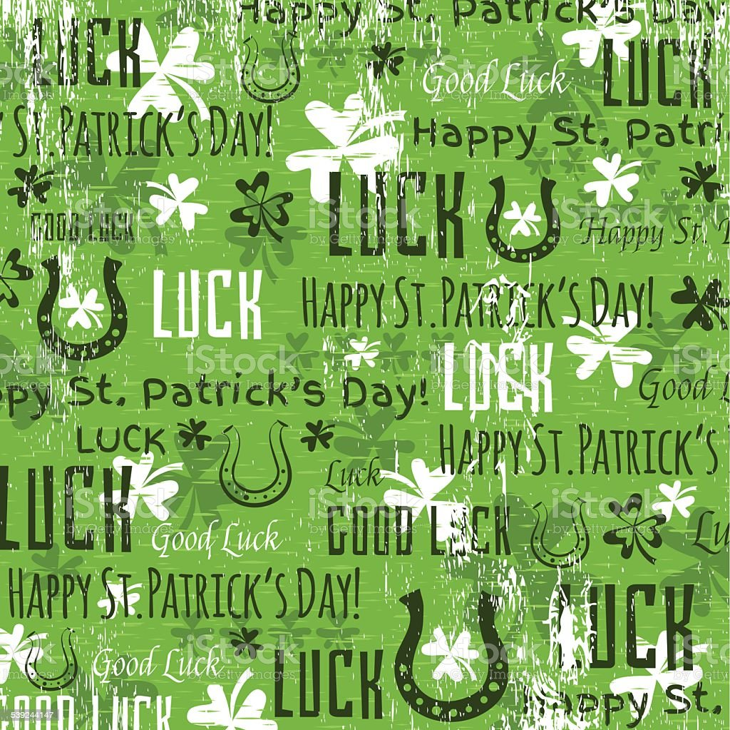 green background for Patricks day with shamrocks, vector royalty-free green background for patricks day with shamrocks vector stock vector art & more images of 17th century