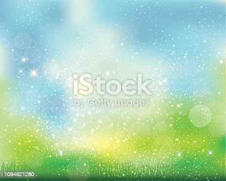 istock green background of sparkles 1094621280