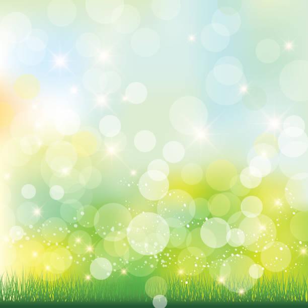 輝きの緑の背景 - 草原点のイラスト素材/クリップアート素材/マンガ素材/アイコン素材