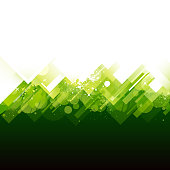 Abstract lush green vector background design