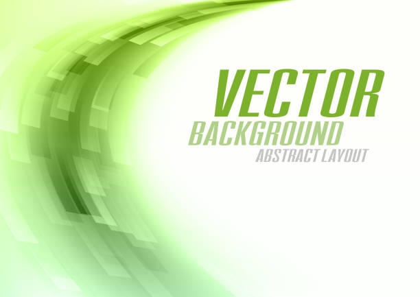 Green Background vector art illustration
