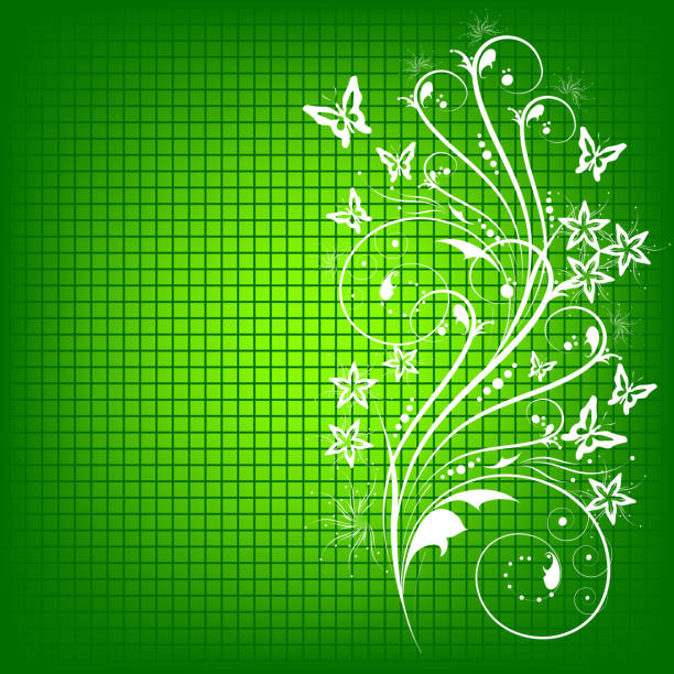 green hintergrund - rankgitter stock-grafiken, -clipart, -cartoons und -symbole