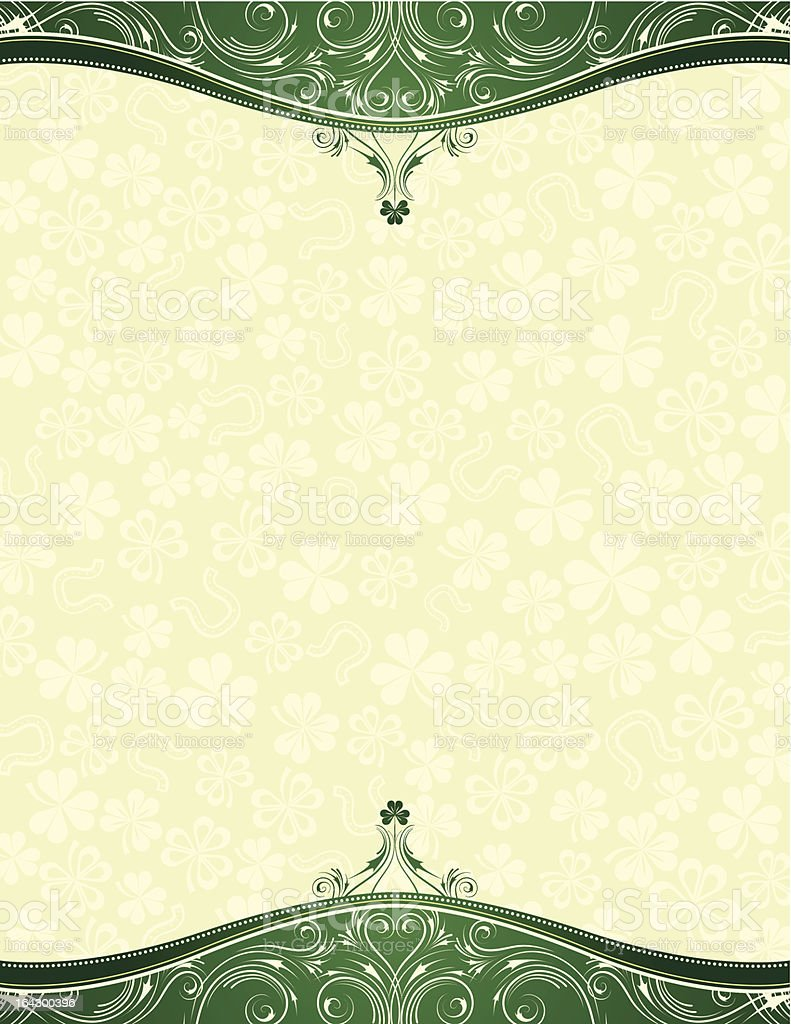 A green background with a vintage design royalty-free stock vector art